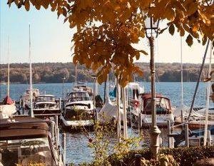 Blick adda Bistro yachthafen marina lanke