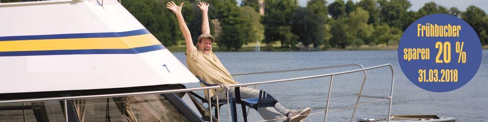 Hausboot mieten Frühbucherrabatt 20%