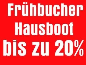 Hausboot-Urlaub 2018 - Frühbucher-Rabatt bis zu 20%