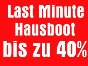 Last Minute Hausboot