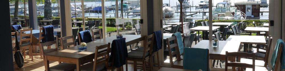 Restaurant Wasserblau - Blick nach nach aussen