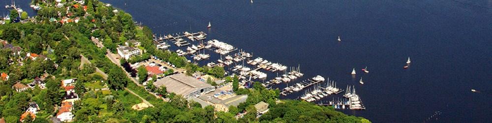 yachthafen bootsliegeplatz luftbild